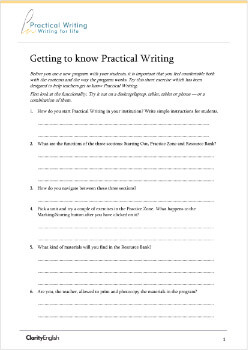 Getting to know Practical Writing