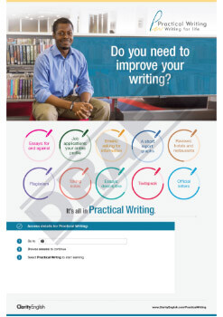 Do you need to improve your writing?